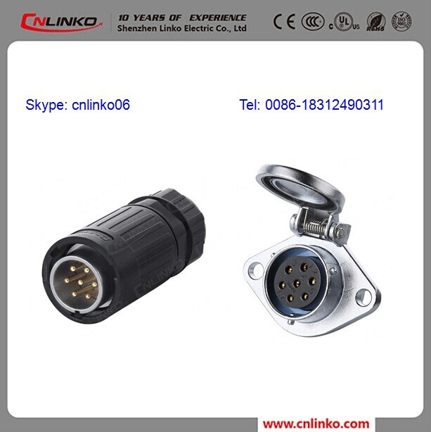 China 7 Pin Power Cable Connector Compatible 6 Pin Connector - China ...