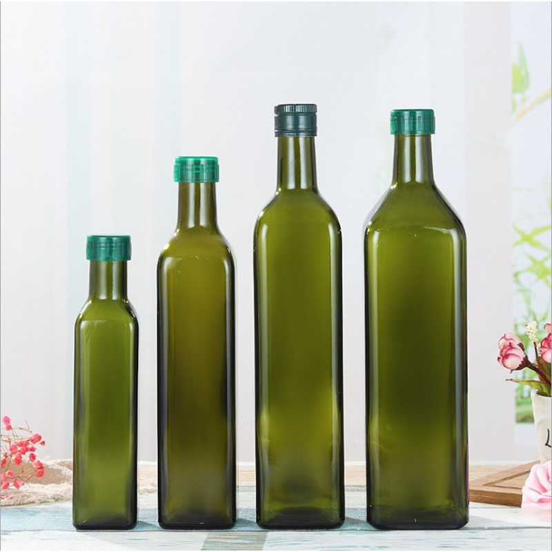 673339e6184b [Hot Item] High Quality Glass Square Types Olive Oil Bottles
