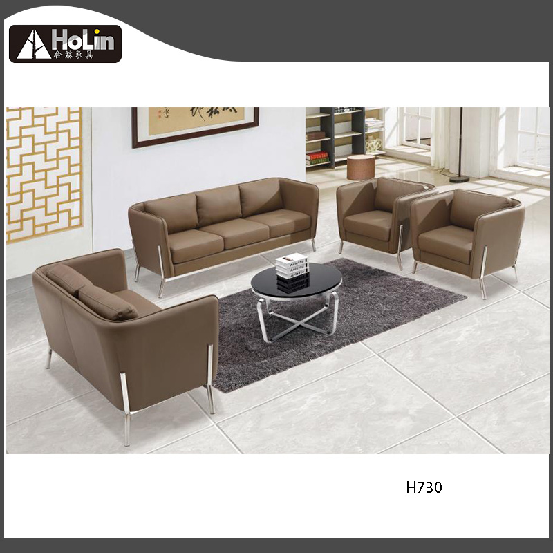 Incredible Hot Item Modern Brown Leather Office Sofa Set Metal Frame Design Office Sectional Sofa Uwap Interior Chair Design Uwaporg