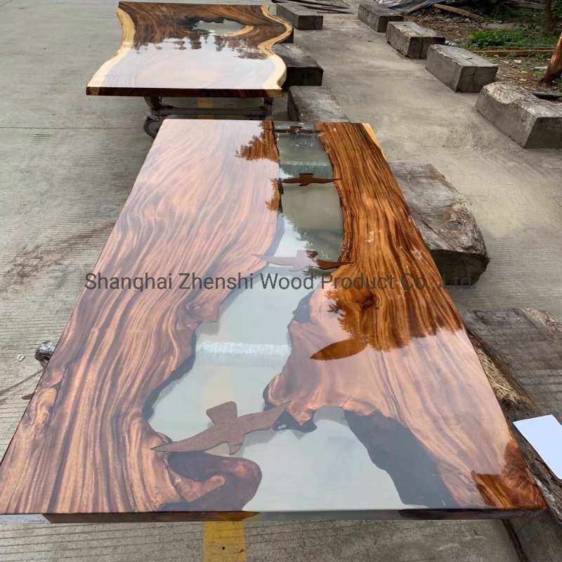 China Epoxy Dining Table Resin Dining Table Epoxy Resin Coffee