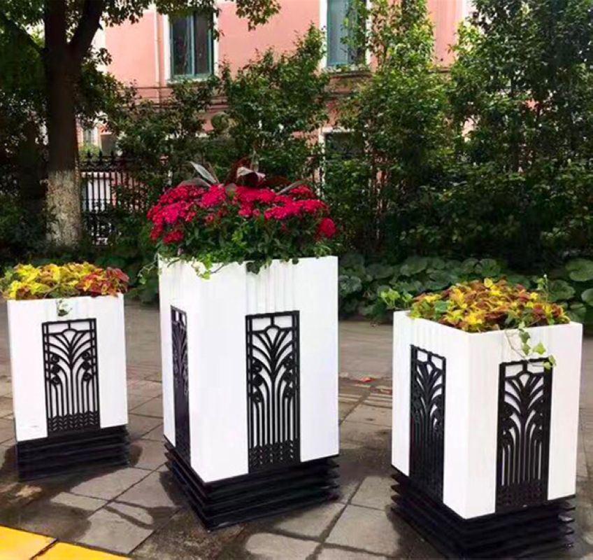 Fiberglass Flower Pots, Outdoor Garden Pots And Planters
