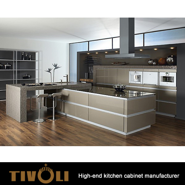 China German Style L-Shape Apartment Kitchen Furniture