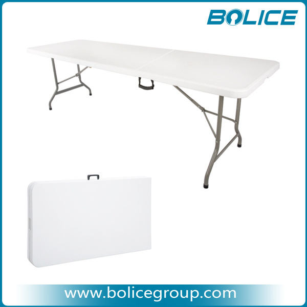 8 10 Person 8ft Two Top Pieces Fold Table