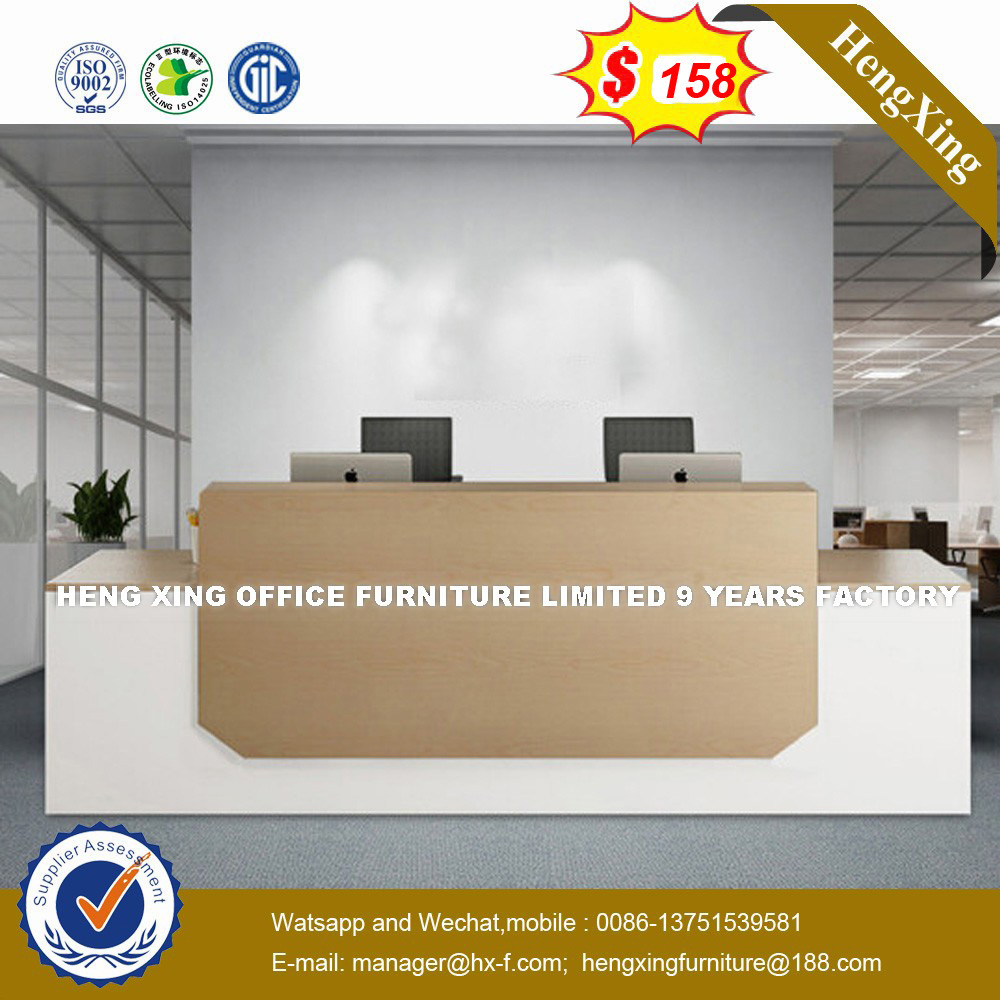 [Hot Item] Rectangle High Gloss Circular Reception Desk (HX-50N50)