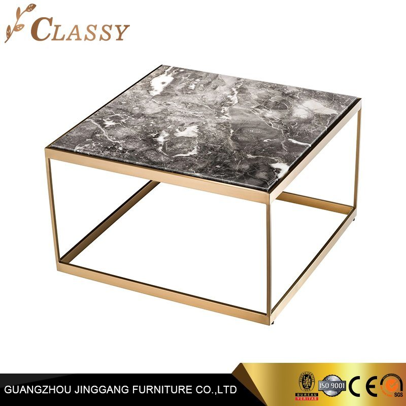 china modern square marble top gold