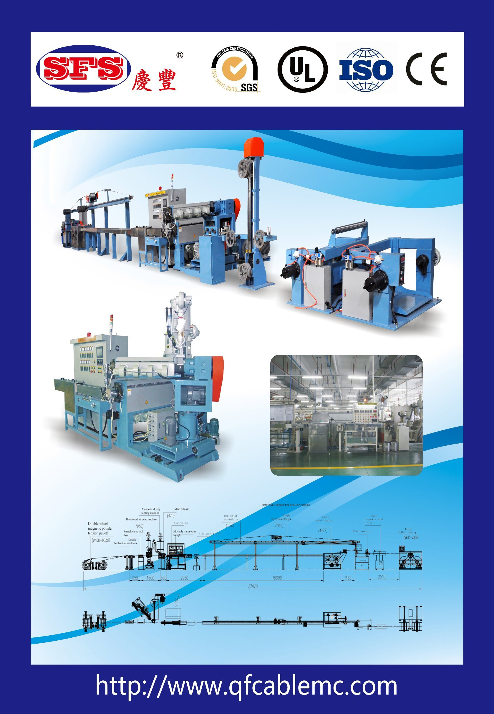 China Photovoltaic No Halogen Cable Extruding Production Line ...