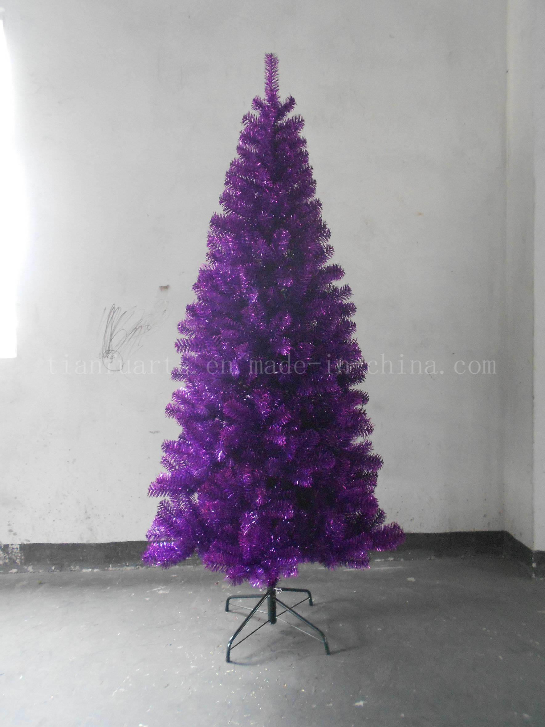 Holographic Christmas Tree.China Christmas Tinsel Tree Holographic Purple Color China