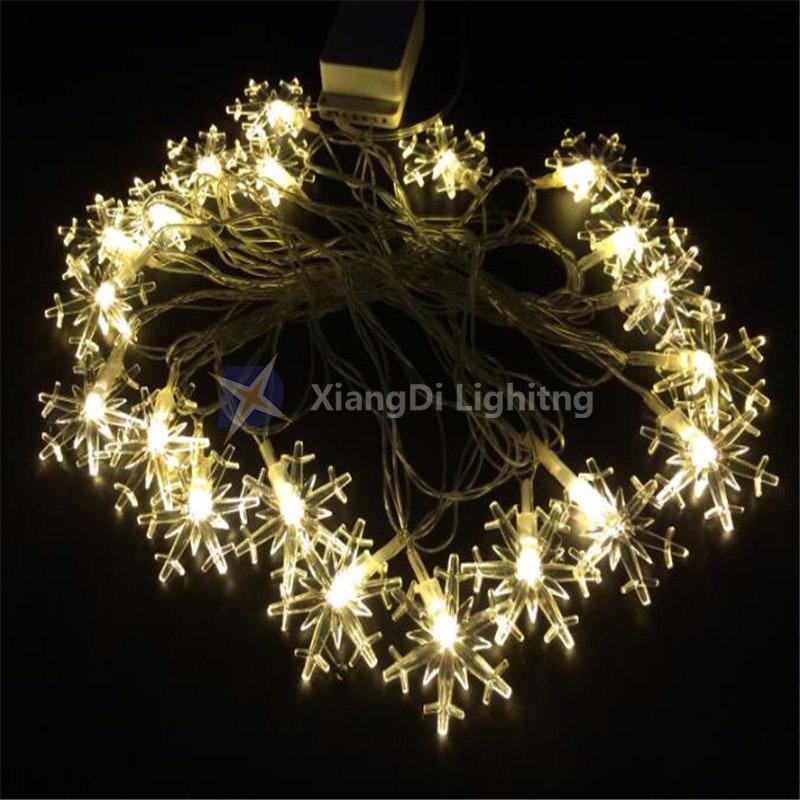 Snowflake Christmas Lights.Hot Item Led Snowflake String Outdoor Decoration Colorful Holiday Christmas Lights