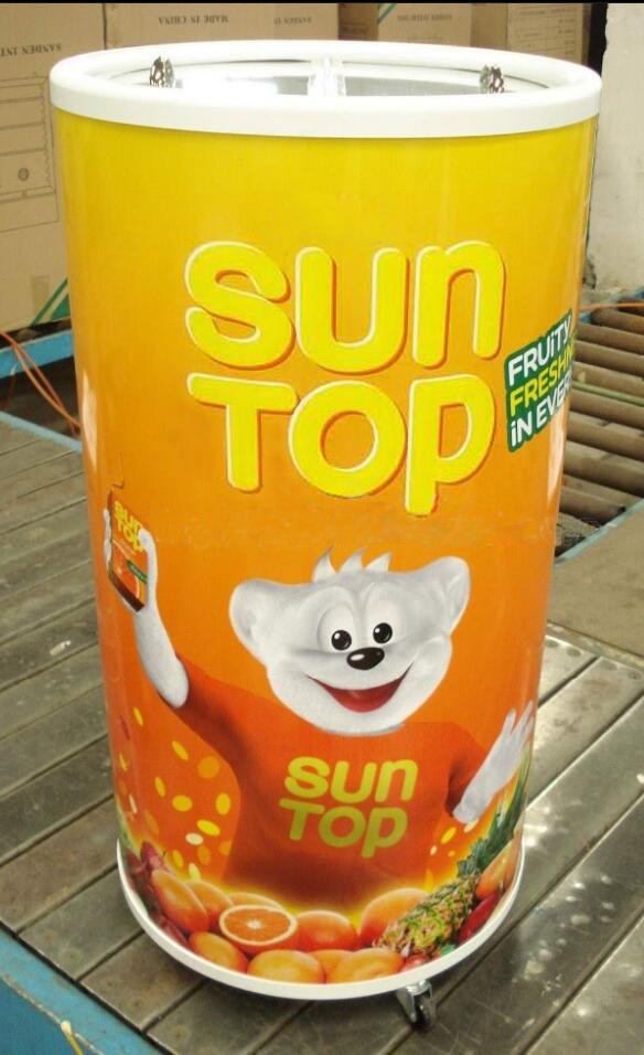 Can Shape Refrigerator Round Beverage Energy Drink Barrel Cooler Sc 75t