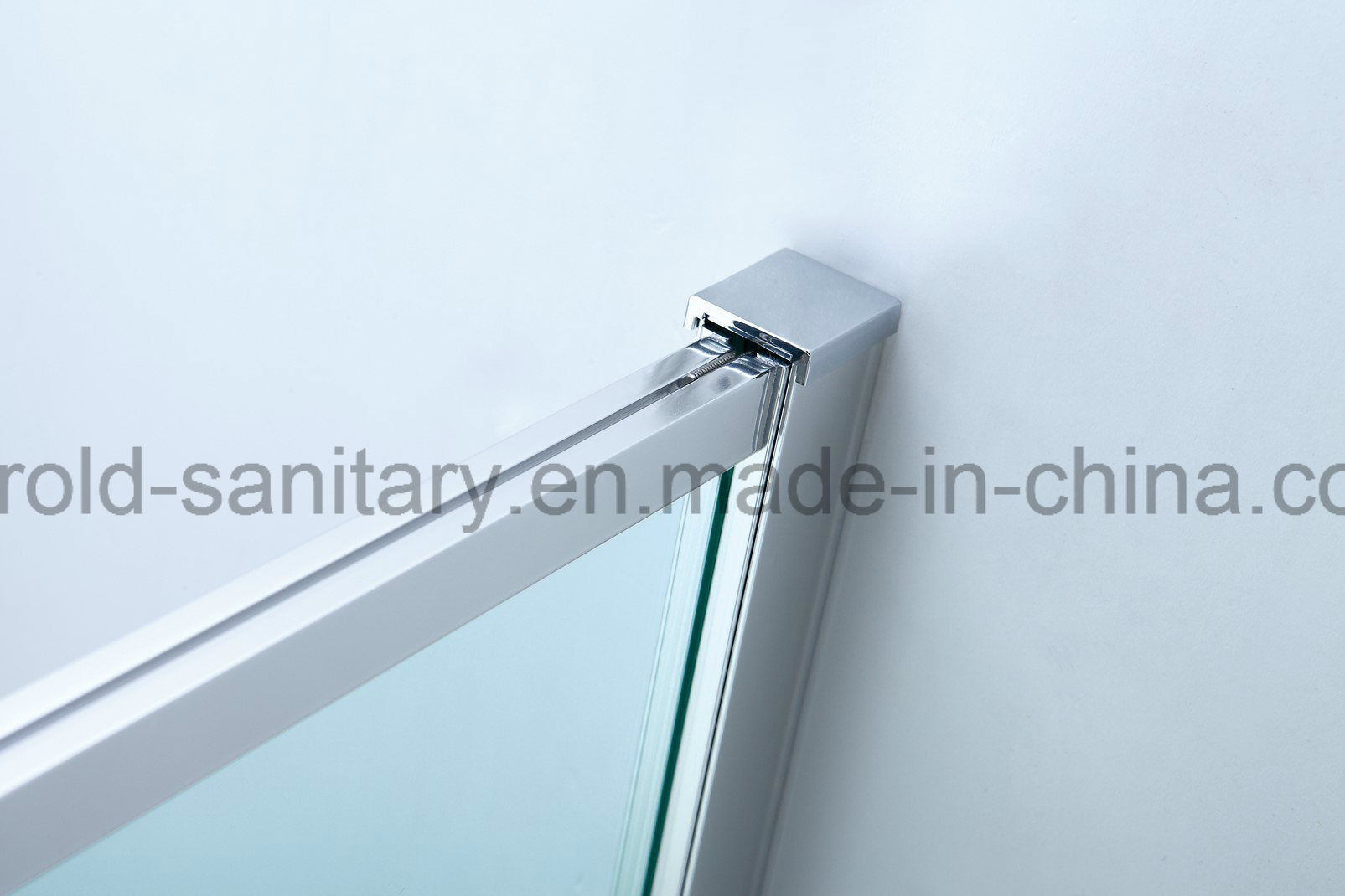 China Aluminium Frame Pivot Shower Door Wide Adjustment