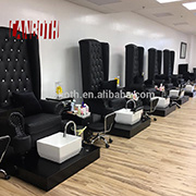China Black Modern French Louis Nail Salon Equipment Pedicure Chair ...