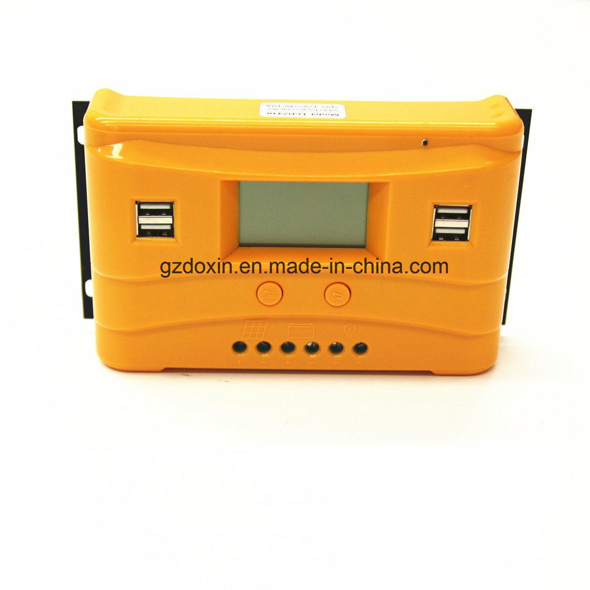China 4 Usb Solar Charge Controller With Lcd 12v24v 10a Pwm 12v 24v