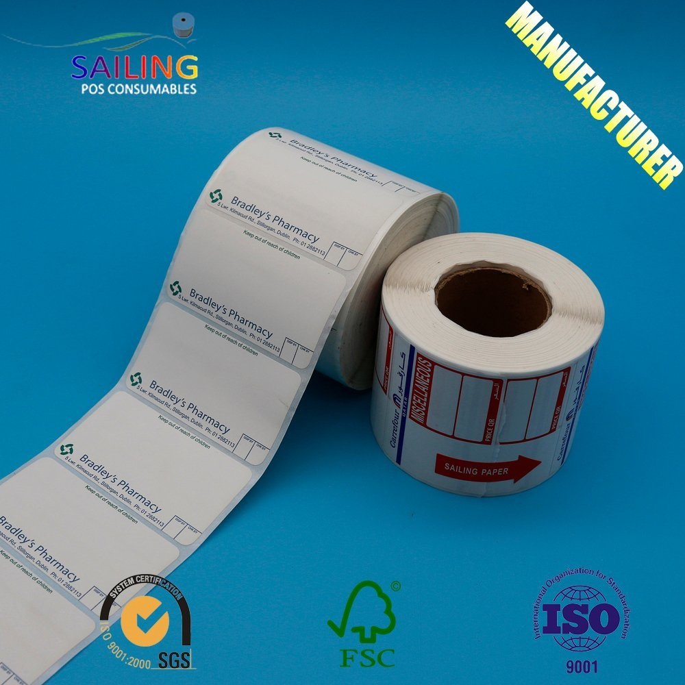 China packaging adhesive paper sticker printing custom printed label supermarket label sticker china label sticker thermal transfer label