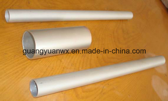 Silver Anodized Aluminum Alloy Tubes with Thread and Hole
