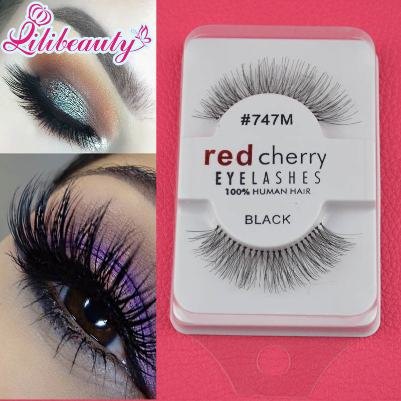 China Wholesale Red Cherry Eyelashes Human Hair Fake Eyelashes