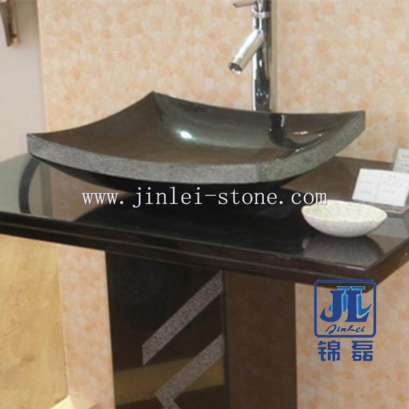 China Black Stone Bathroom Vanity Sink