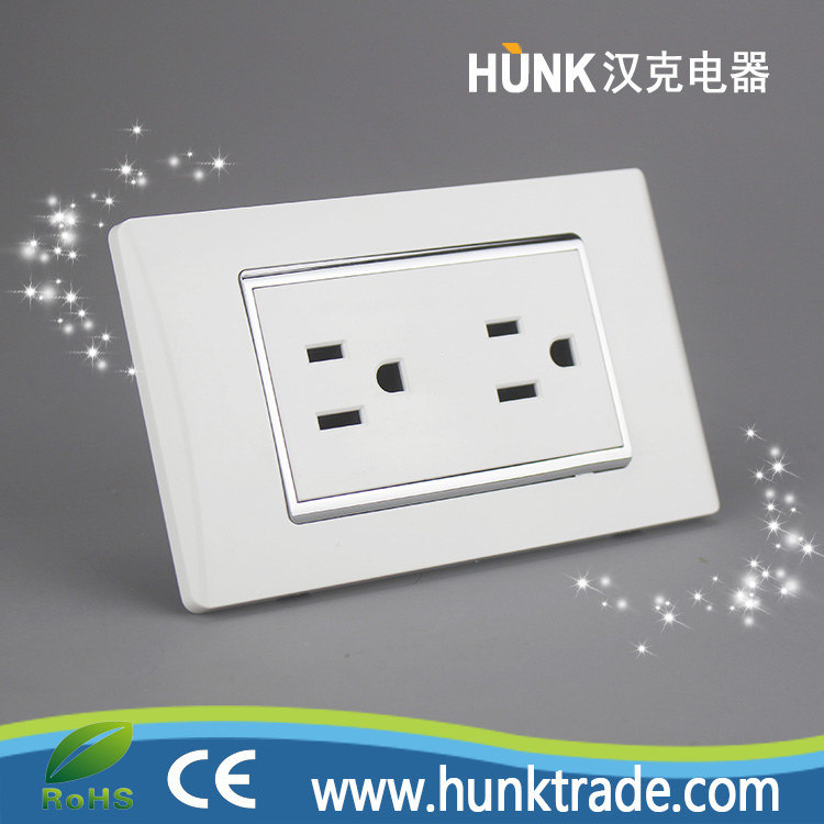 China Galvanized Silver Frame Us Power Outlet Double Duplex ...