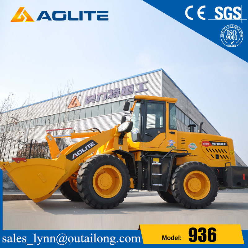 Hydraulic Articulated Front Small Wheel Loader with Joystick for Sale pictures & photos