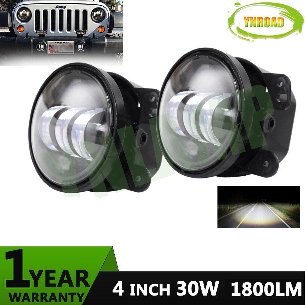 China 4inch 30w Led Fog Light For Jeep Wrangler Jk Lights 4