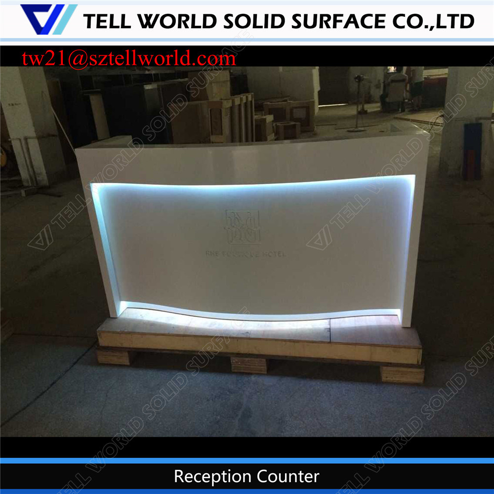 Modern Corian Reception for Dental White Decorative Hotel Reception Desk
