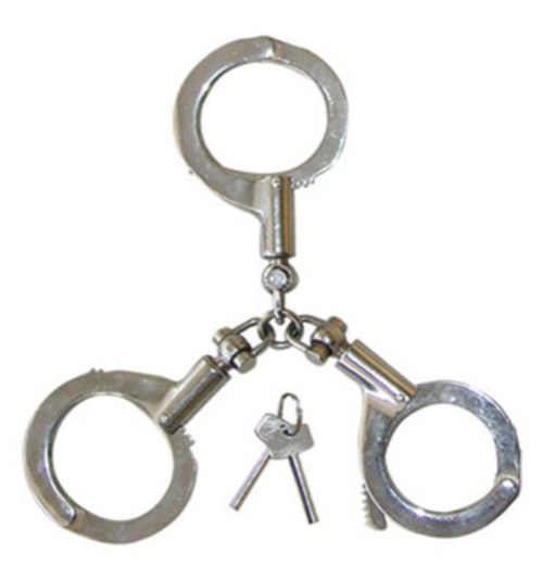 3 Joined Handcuffs / Police Handcuff/ Police Equipment (SDHA-1S)