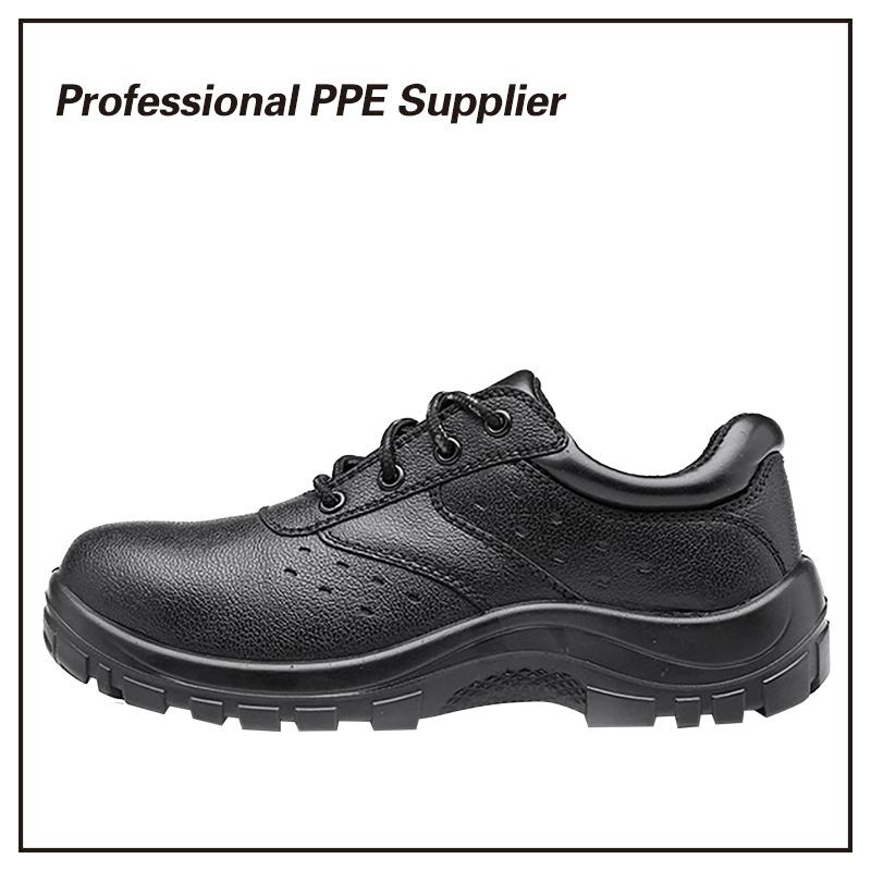 Black Steel Cheap Work Shoe
