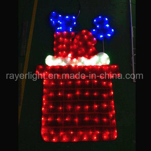 LED Motif Lights Santa Stuck in Chimney Light Outdoor Christmas Decorations