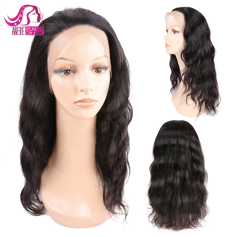 Wholesale 100% Brazilian Virgin Human Hair Wigs with Lace Frontal