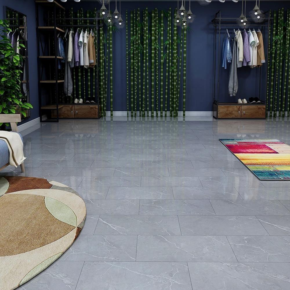 China PVC Marble Looking 4.4mm Vinyl Floor Lowes Plank Flooring