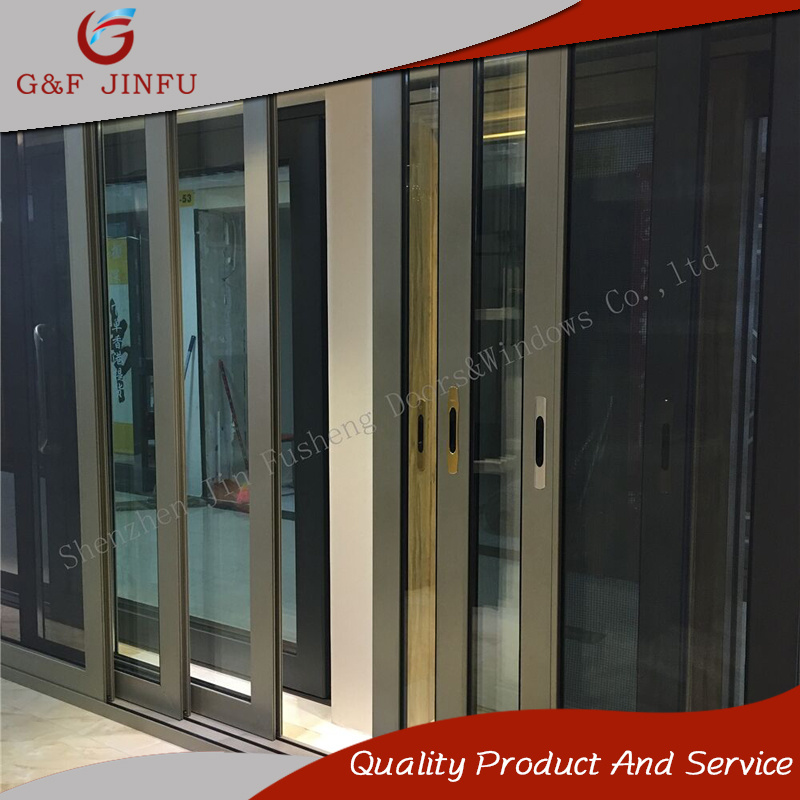China Luxury Design Heavy Duty Aluminum Tempered Glass Sliding Door