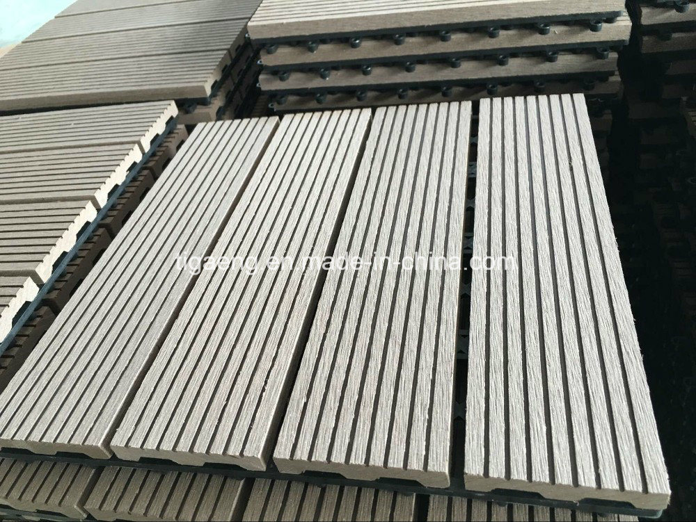 China Outdoor Interlocking Wpc Diy Deck Tiles Sports Rubber Wood Plastic Flooring High End Wooden Like Pe Decking