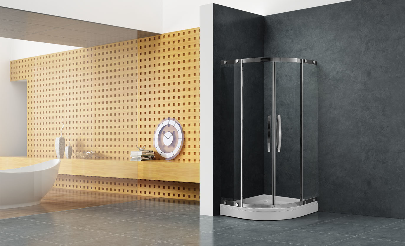 China Professional Manufacturer Dubai Shower Enclosure Room with 8mm ...