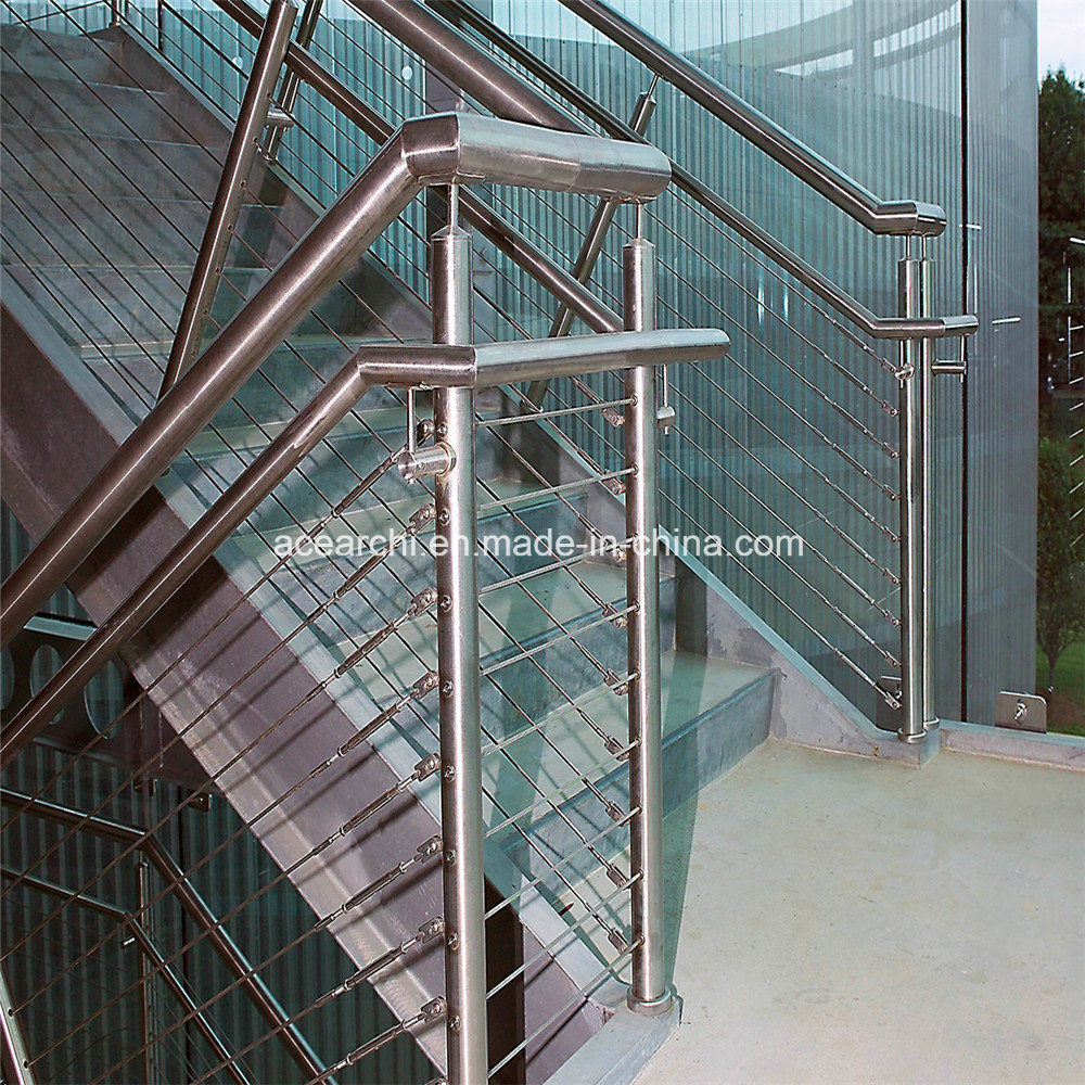 China Deck Stainless Steel Cable Railing Tension Wire Balustrade ...