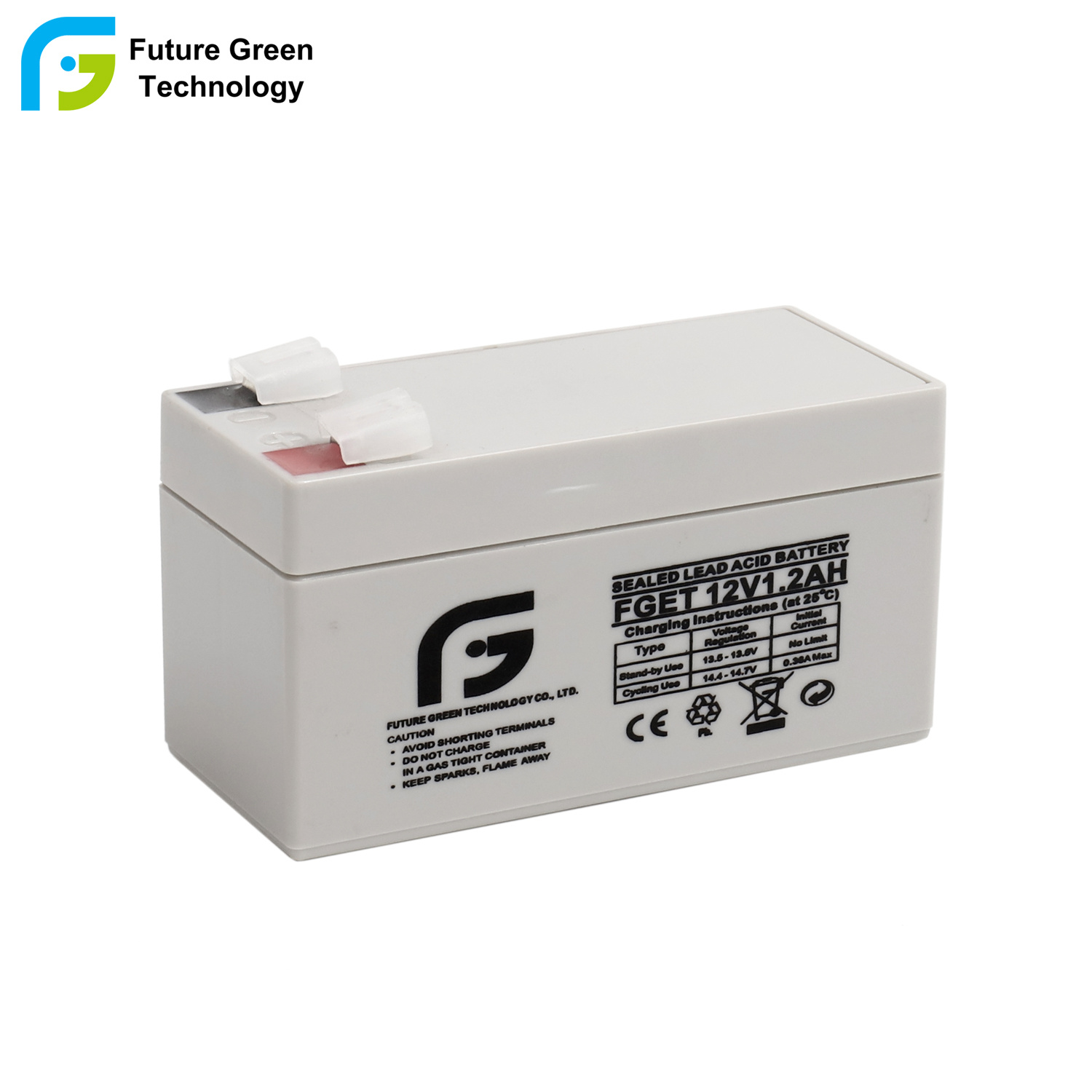 China 12v 1 2ah Rechargeable Lead Acid Emergency Light Battery Agm Storage