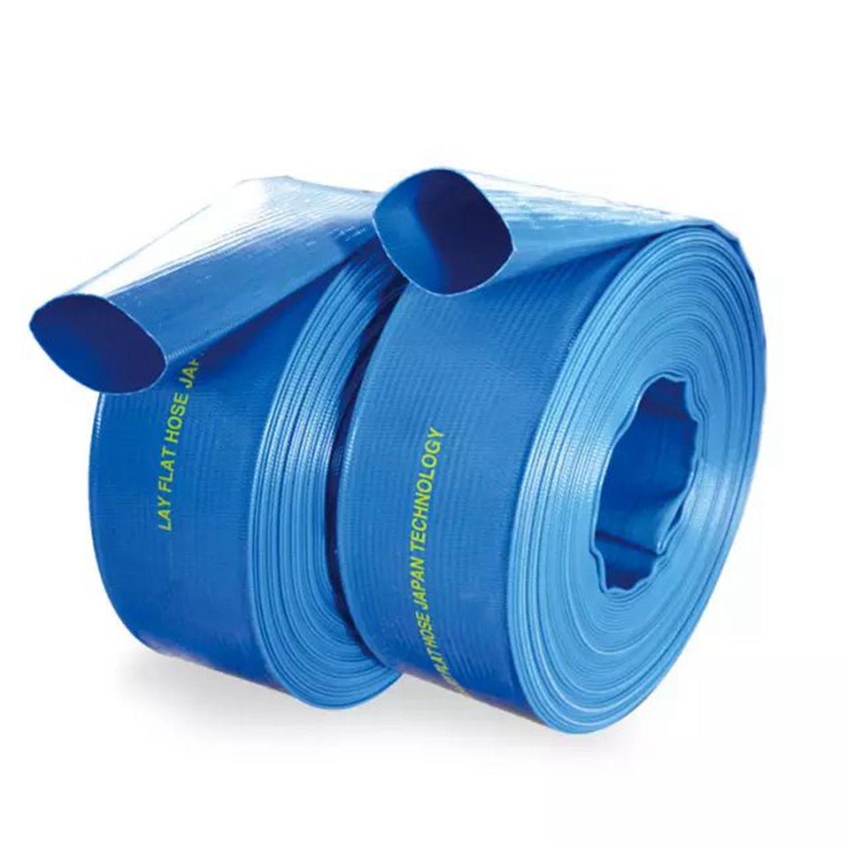 Layflat PVC Water Delivery Hose Discharge Pipe Pump Lay Flat Irrigation Blue