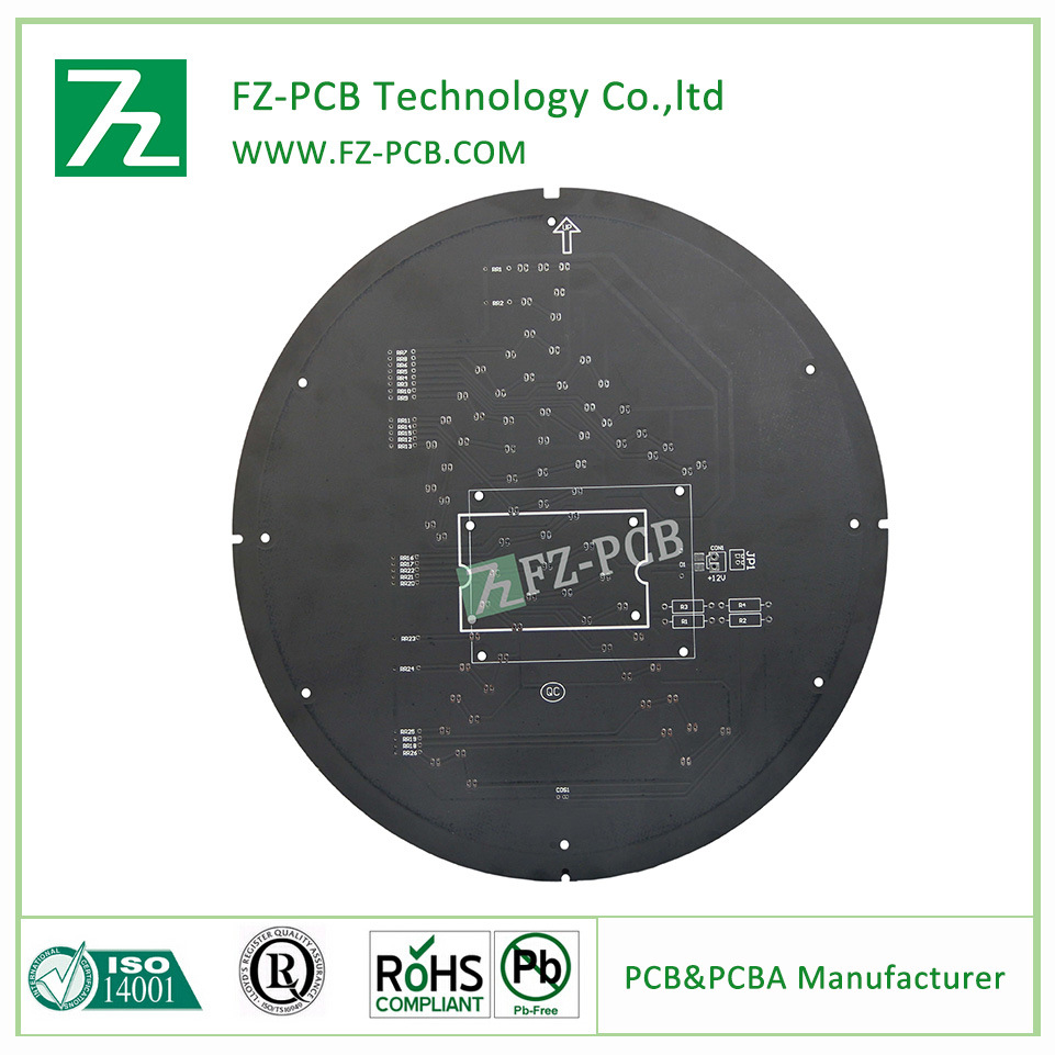 China Fr4 Led Pcb Board With Black Solder Mask Or Singlesided Copper Clad Epoxy Sheet For Printed Circuit