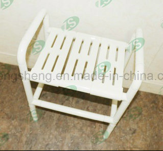 Medical Equipment Anti-Bacterial Plastic Nylon Wood Shower Seat pictures & photos