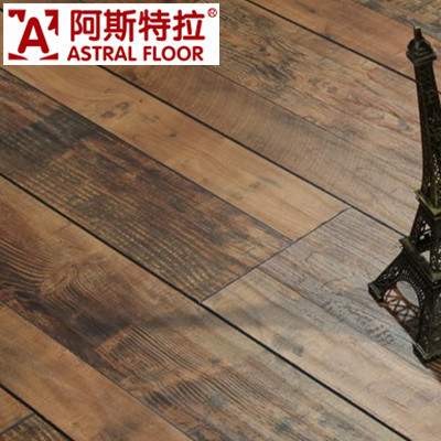 China High Quality 12mm And 8mm With Wax Laminate Wood Flooring