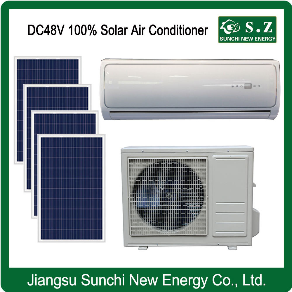 china 100% dc48v solar powered air conditioner for home cooling