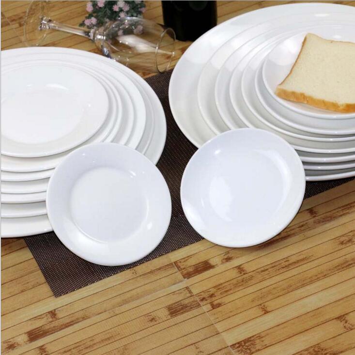 China Ceramic Plate Whole Restaurant White Round Dinner Plates Hotel