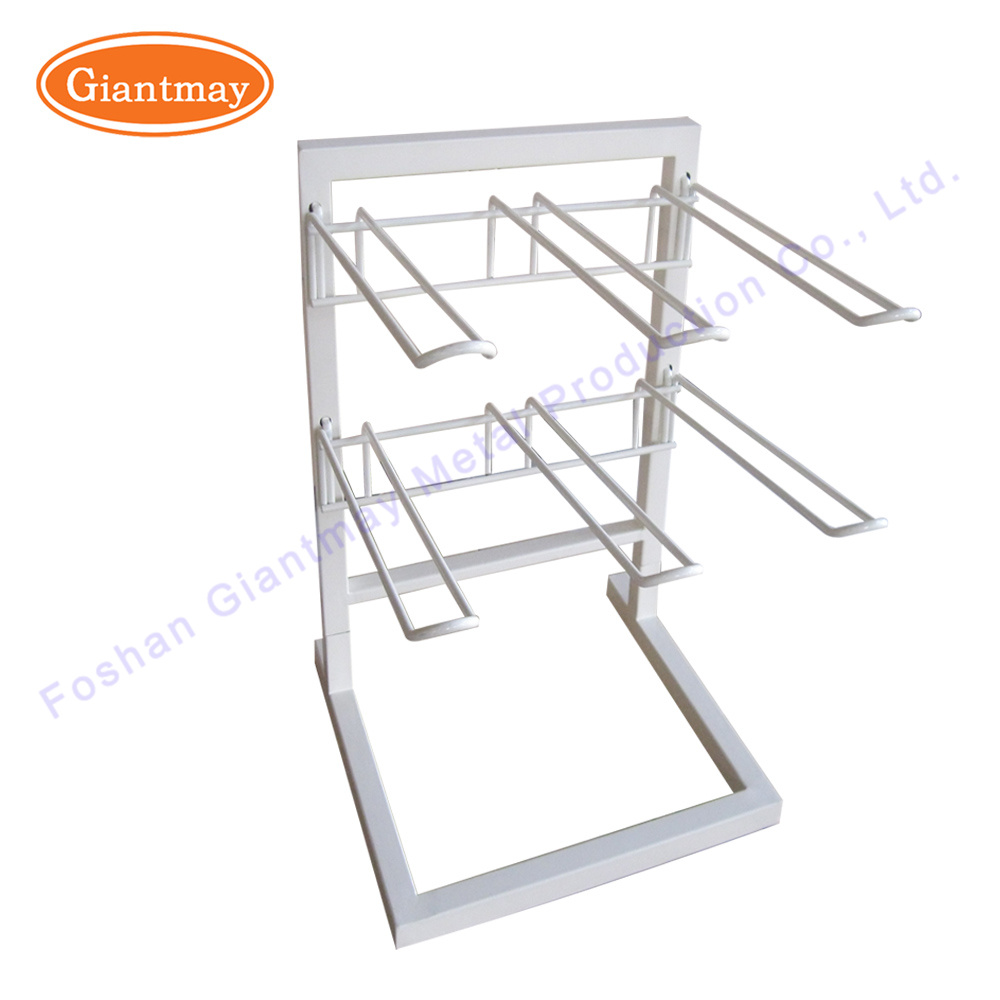 China 2 Tier Wire Metal Table Counter Top Spinner Shelves Display ...