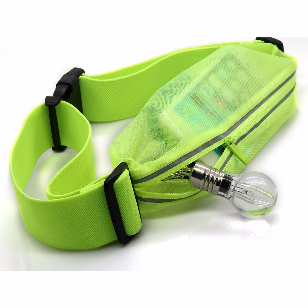 76089cf775e7 [Hot Item] Waterproof Running Belt Bum Zip Bag Waist Pouch Fanny Pack  Storage Pockets