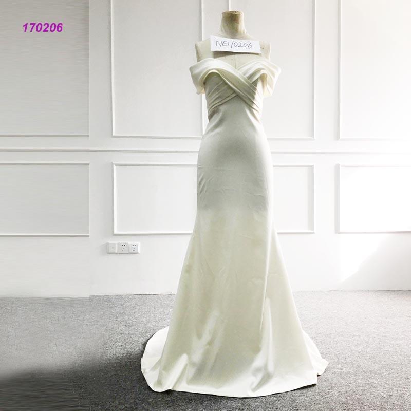 China Real Sample Wedding Dress off Should Design Full Length ...