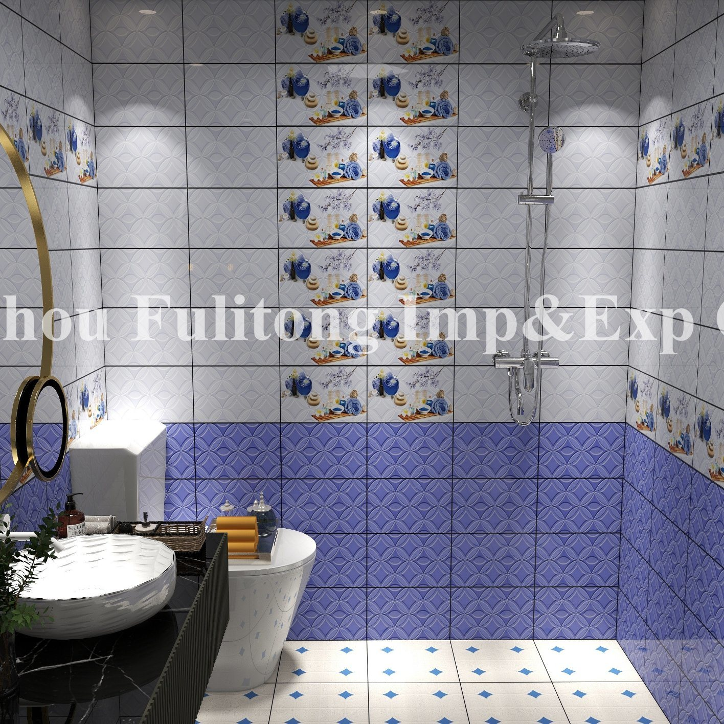 New Designs Ceramic Bathroom Wall Tiles, Tile Designs For Bathroom