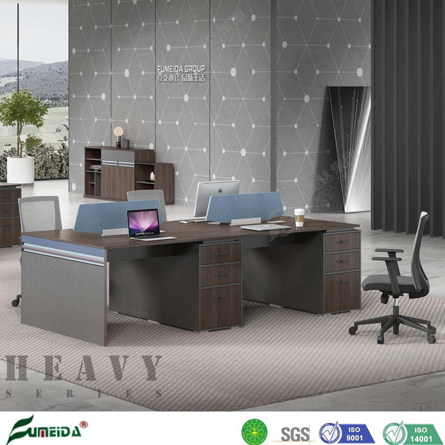 China Simple Modern Compact Wooden Melamine Office Staff Computer Desk Office Partitions China Office Partitions Computer Desk