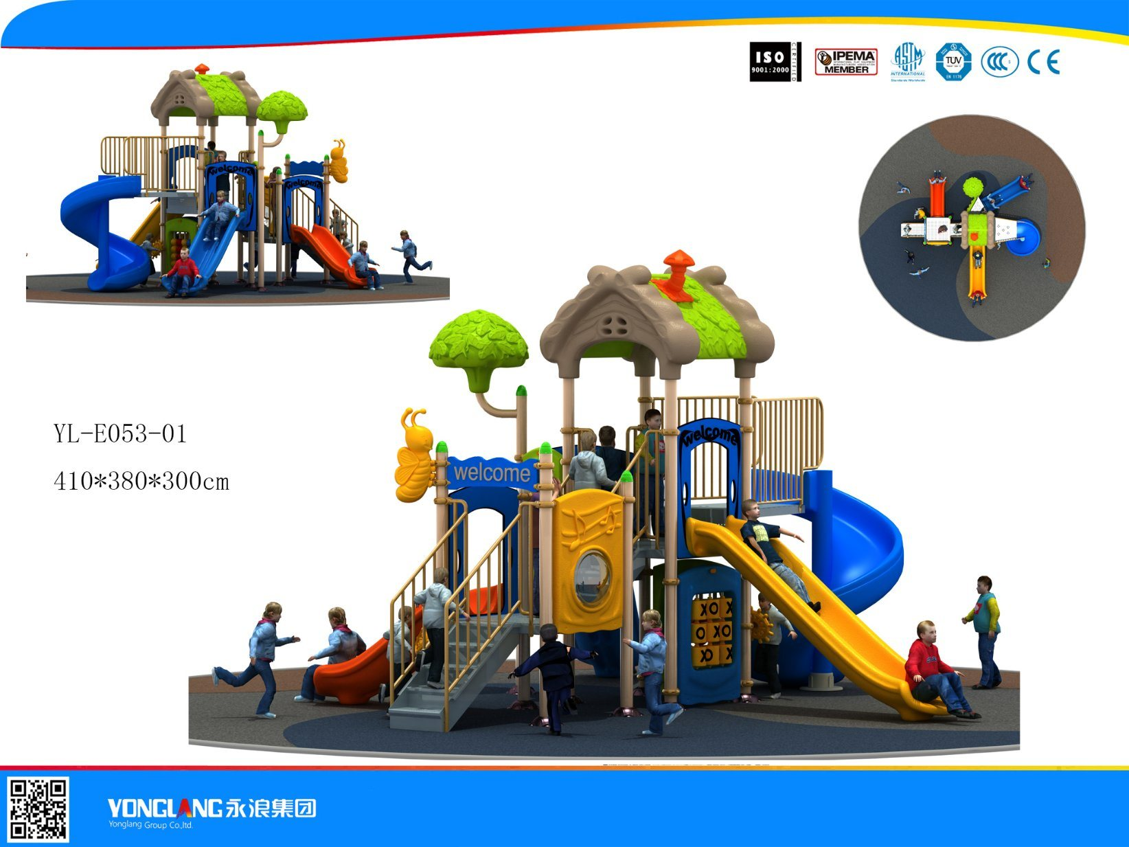 Mini Series Playground Equipment Slide (YL-E053-01)