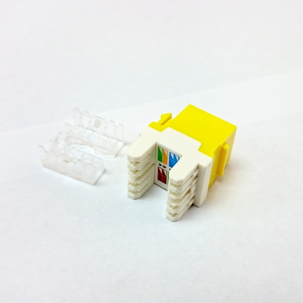 Multi-Color CAT6 RJ45 Punch-Down Keystone Jack Module Network Connector pictures & photos