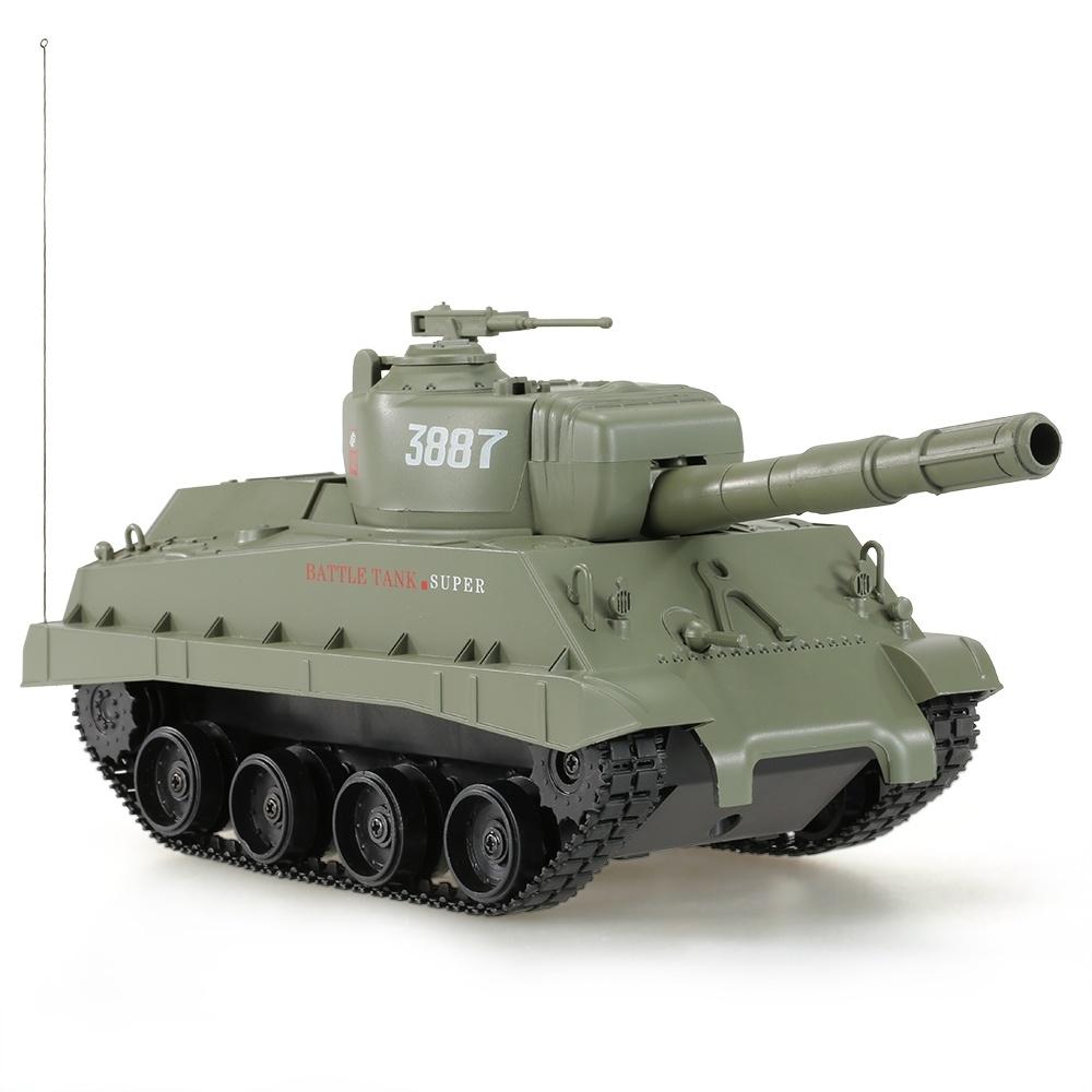 [Hot Item] 0343887-27MHz 1/30 Fire Ball Bullet Cannonball Shooting RC  Battle Tank
