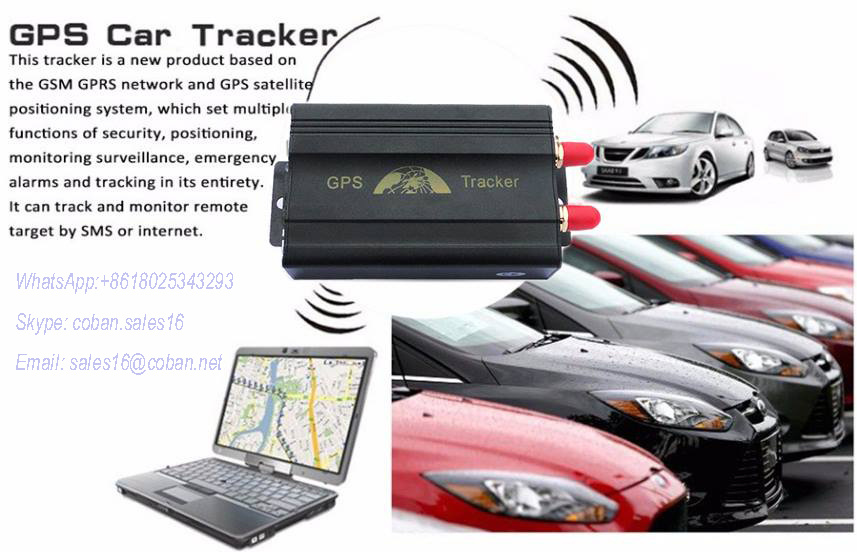 [Hot Item] Car GPS Tracker with SMS Remote Cut off Engine, Tk103A Car Alarm  GPS Tracking Device