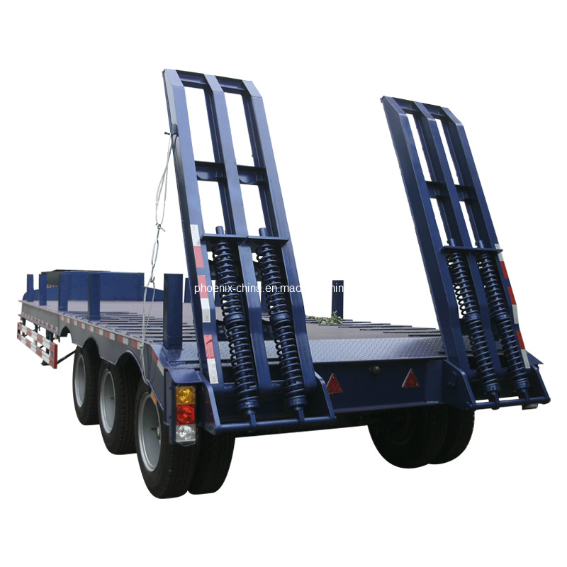 Low Bed Semi Trailer 3 Axles 80tons for Sale